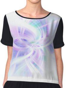 Light Blue Purple Abstract. Concept Lightness  Chiffon Top