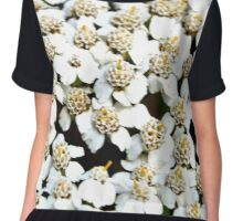 White Little Flowers Chiffon Top