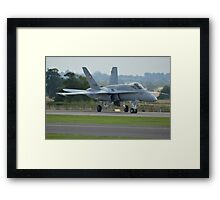 Swiss Air Force F-18 Hornet.... Framed Print