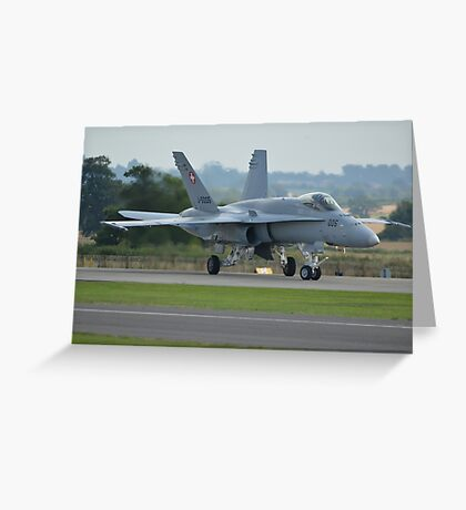 Swiss Air Force F-18 Hornet.... Greeting Card