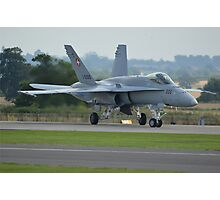 Swiss Air Force F-18 Hornet.... Photographic Print