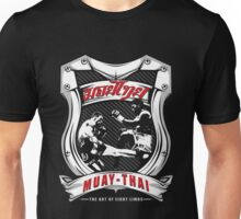 muay thai fight badge retro badge thailand martial art shirt sticker Unisex T-Shirt