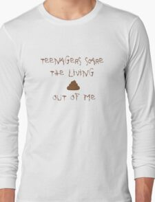 My Chemical Romance Teenagers Scare the Living Shit out of Me Long Sleeve T-Shirt