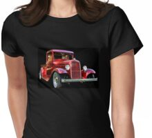 Red Truck Womens Fitted T-Shirt