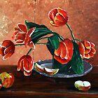 Vaas met tulpen by GWinkel
