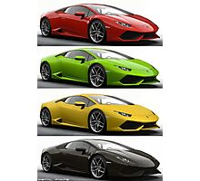 Four Lambo Photographic Print