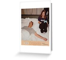 Bill Murray and Sofia Coppola Lost in Translation Greeting Card