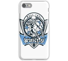 muay thai skull thailand martial art sport logo badge sticker shirt iPhone Case/Skin