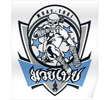 muay thai skull thailand martial art sport logo badge sticker shirt Poster