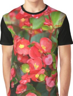 Red Flowers Bloom Graphic T-Shirt