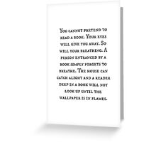 Pretend Reading Quote Greeting Card