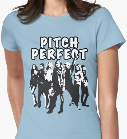 Pitch Perfect Cast Edit Womens Fitted T-Shirt