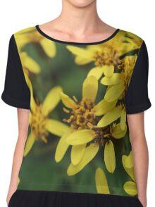 Yellow Flowers Chiffon Top