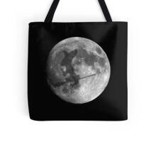Dark Witches Shadow Cast on Full Moon Tote Bag