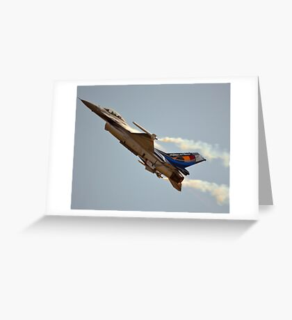 Belgian Air Force F-16 Falcon(350th Squadron) Greeting Card