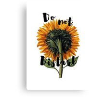 DO NOT DISTURB Canvas Print