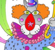nosey clown Sticker