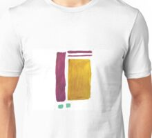 Purple and Gold Abstract Pattern Unisex T-Shirt