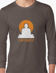 Buddha Rising Sun Namaste Long Sleeve T-Shirt