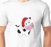 Christmas Cow Unisex T-Shirt