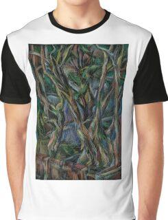 Winter Tree Blues Graphic T-Shirt