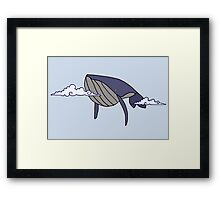 Cloudy With a Chance of Whales Framed Print