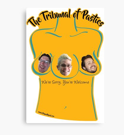 The Tribunal of Pasties - Yellow Canvas Print