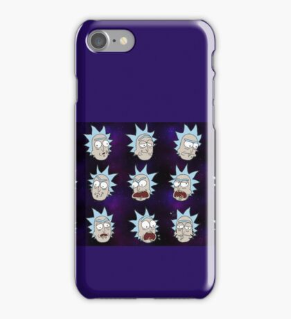 Rick Sanchez Galaxy Expressions iPhone Case/Skin