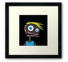 Crazy blond man Framed Print