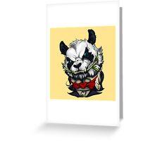 Panda vampire Greeting Card