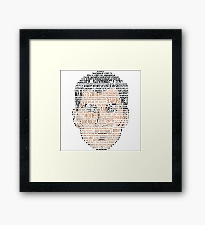 Archer Quotes Framed Print