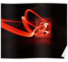 Light Painting Mirror (red)  Poster