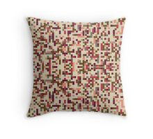 Morse Code - Color Pixels Throw Pillow
