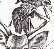 Raven Moon Sticker