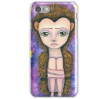 Hedgehog girl with stars iPhone Case/Skin