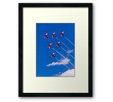 Aerobatics above Melbourne Framed Print