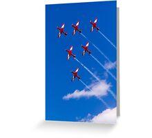 Aerobatics above Melbourne Greeting Card