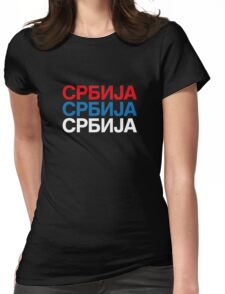 SERBIA Womens Fitted T-Shirt