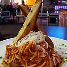 Spaghetti Dish at Ps &Qs by Larry Costales