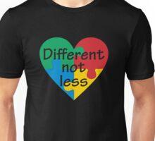 Different Not Less Autism Awareness Unisex T-Shirt