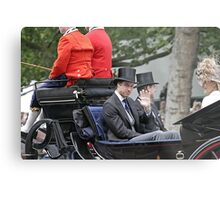Prince William in a carriage Metal Print