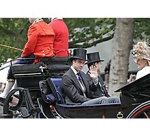 Prince William in a carriage Photographic Print