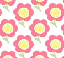 Simple baby pattern. Cute seamless wallpaper. Doodle little flower pastel background.  Sticker