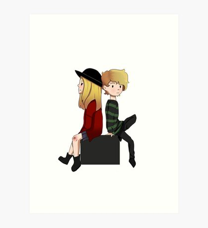 AHS- Violet and Tate Art Print