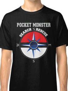 Pocket Monster Search N Rescue Pokemon Go Classic T-Shirt