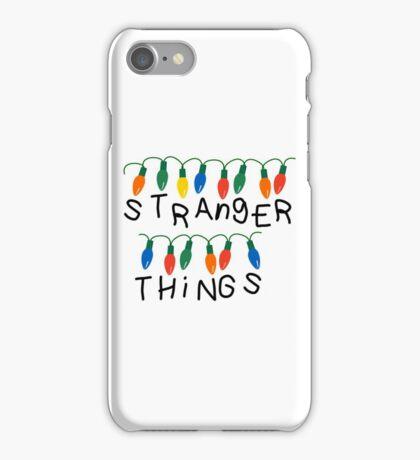 Stranger Things Christmas lights iPhone Case/Skin