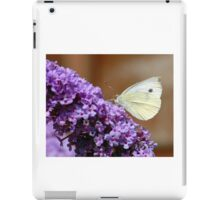 Cabbage White butterfly on Buddleia iPad Case/Skin