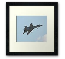 Swiss Air Force F-18 Hornet on Dirty Flypast Framed Print