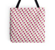 Simple doodle tulip pattern. Cute flower seamless background. Summer wallpaper. Tote Bag