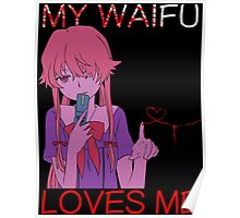 Yuno Gasai Anime Manga Shirt Poster